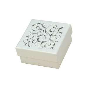 Pudełko LENA uniw.małe białe+srebrny nadruk