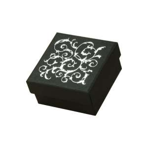 Pudełko LENA uniw.małe czarne+srebrny nadruk