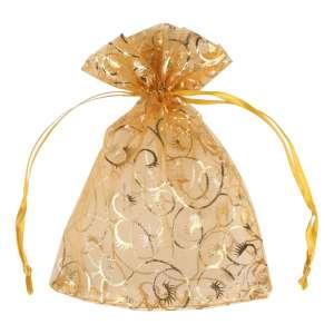 Organza Bag with pattern 12x16 cm.