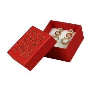 Pudełko LENA uniw.małe Czerwony+Złoty nadruk