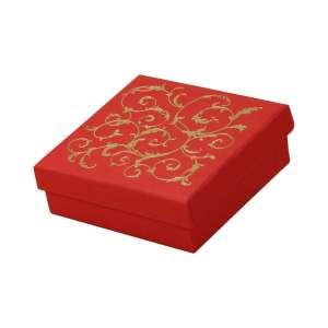 Pudełko LENA uniw.duże czerwone+Złoty nadruk