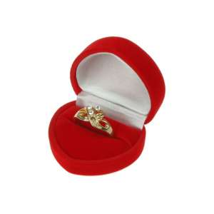 ANA Heart Shaped Jewellery box - Red