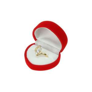 ANA Heart Shaped Jewellery box - Red / White