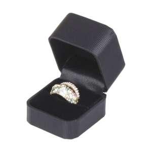 SATIN Ring Jewellery Box - Black