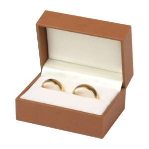 EVITA  Wedding Rings Jewellery Box - brown
