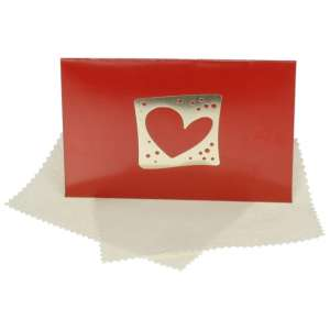 Gift Cleaning Cloths 20 x 12 cm. - Heart