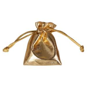 Jewellery Pouch 6x8 cm. - Gold