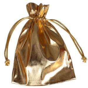 Jewellery Pouch 12x16 cm. - Gold