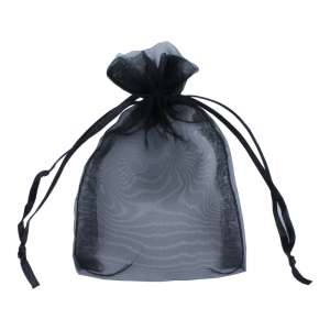 Organza Bag 8x12 cm. - Black
