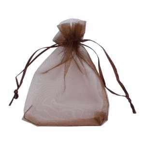 Organza Bag 9x12 cm. - brown