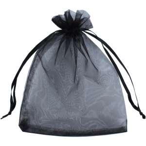 Organza Bag 12x17 cm. - Black