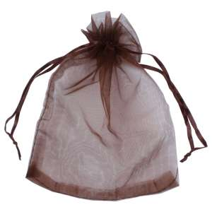 Organza Bag 12x17 cm. - brown