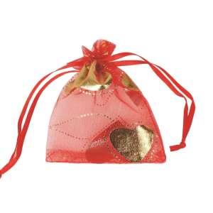 Organza Bag 8x10 cm. - Hearts
