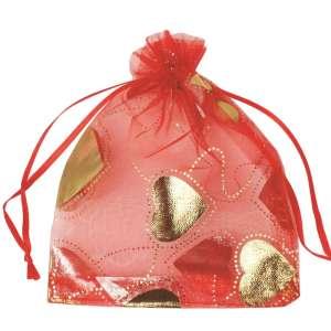 Organza Bag  12x15cm - Hearts