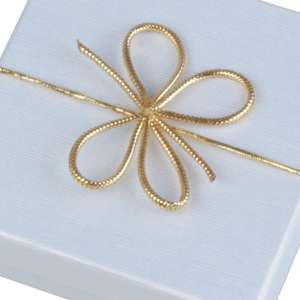 Elastic Bow circuit 16 cm. Gold - 50 pcs