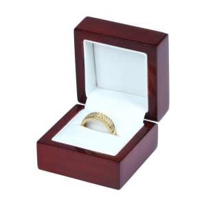 Pudełko PRIMO bordowe pierścionek