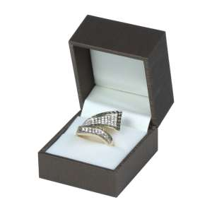 LARA Ring Jewellery Box - brown
