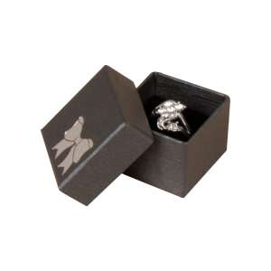 TINA BOW Ring Jewellery Box - Graphite