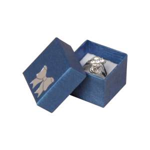 TINA BOW  Ring Jewellery Box - Blue