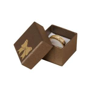 TINA BOW Ring Jewellery Box - brown