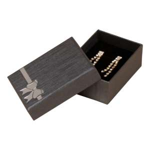 TINA BOW Small Set Jewellery Box - Graphite