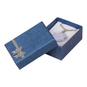 TINA BOW Small Set Jewellery Box - Blue