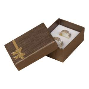 TINA BOW Small Set Jewellery Box - brown
