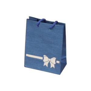 TINA BOW Paper Bag 9x12x5 cm. Blue