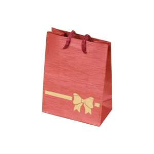 TINA BOW Paper Bag 9x12x5 cm. Burgundy