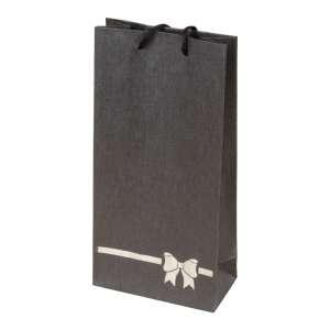 TINA BOW Paper Bag 12x24x6 cm. Graphite