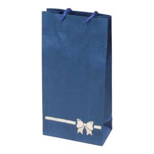 TINA BOW Paper Bag 12x24x6 cm. Blue