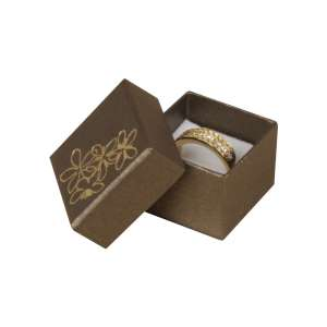 TINA FLOWERS Ring Jewellery Box - brown