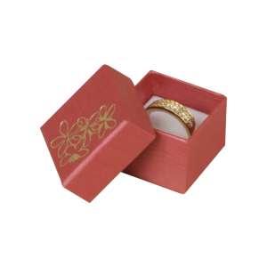 TINA FLOWERS Ring Jewellery Box - Burgundy