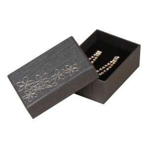 TINA FLOWERS Small Set Jewellery Box - Graphite