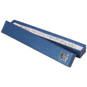 TINA BOW Bracelet Jewellery Box - Blue