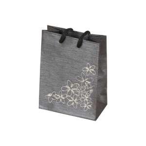 TINA FLOWERS Paper Bag 9x12x5 cm. Graphite