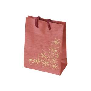 TINA FLOWERS Paper Bag 9x12x5 cm. Burgundy