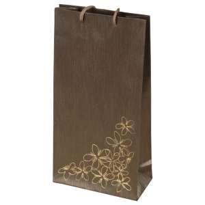 TINA FLOWERS Paper Bag 12x24x6 cm. brown