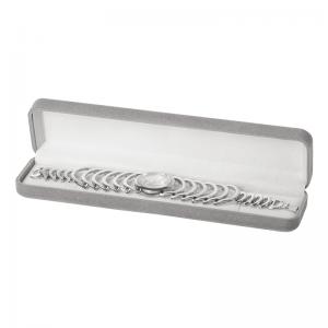Pudełko EMMA bransoletka szare