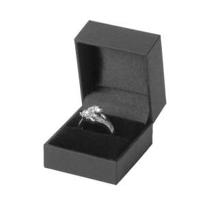 IDA Ring Jewellery Box - black