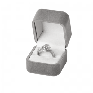 EMMA Ring Jewellery Box - grey