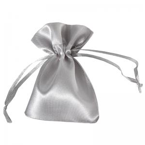 Jewellery Satin Pouch DORIS 8x10 cm. - Silver