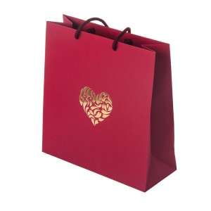 MAYA HEART Paper Bag 240x230x90mm. - burgundy