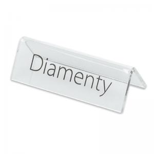 "Stand with print ""Diamenty"""