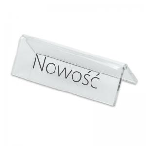 """Stand with print """"Nowość"""""""