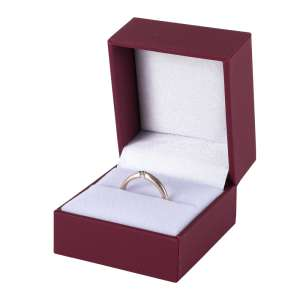 IDA Ring Jewellery Box - Burgundy