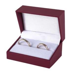 IDA  Wedding Rings Jewellery Box - burgundy