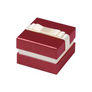 DIANA Ring Jewellery Box - burgundy