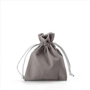 Jewellery Welur Pouch FIONA 8x10 cm. - Grey